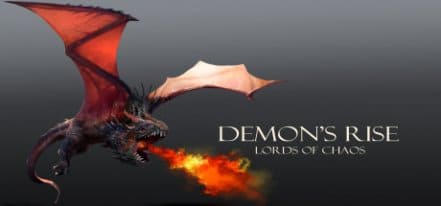 Логотип Demon's Rise Lords of Chaos